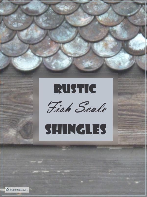 Rustic Fish Scale Shingles - a rustic twist on a classic cedar shingle pattern - Dragon Scale or Fish Scale Design... Rustic Shingles | Garden Shed