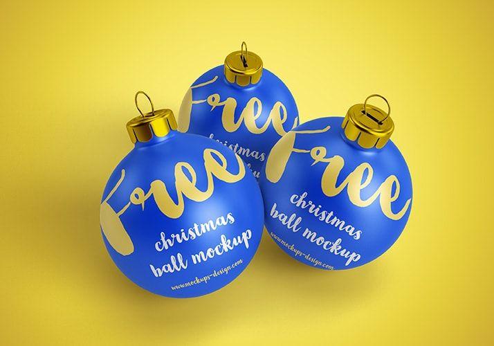 Free Christmas Ball Mockups Freebie Psd Template Free Christmas Christmas Balls Christmas Fun