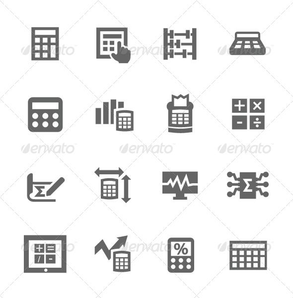 Calculation Icon — Vector EPS #number #calculate • Available here → https://graphicriver.net/item/calculation-icon/7627069?ref=pxcr