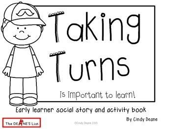 Taking Turns is Important to Learn: Early learner social skills & activity book   Social skills activities. Social skills. Preschool social skills