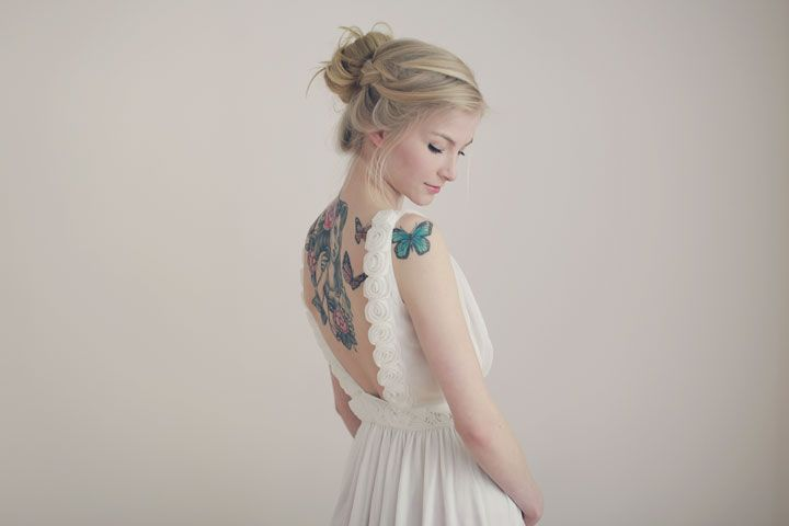 Schmetterlingsmädchen - alles über Tattoos. - odernichtoderdoch.de #tattoo #hair #inspiration