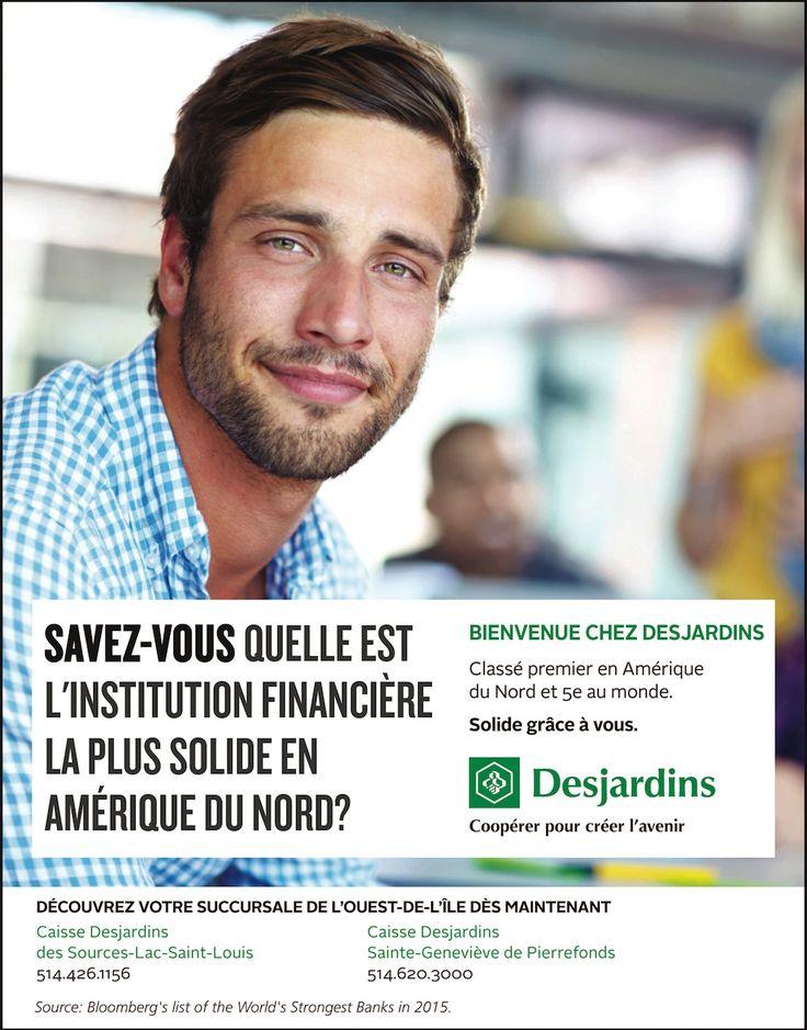Publicité pour Desjardins dans l'Ouest de l'Île de Montréal. Par Maestro Communications