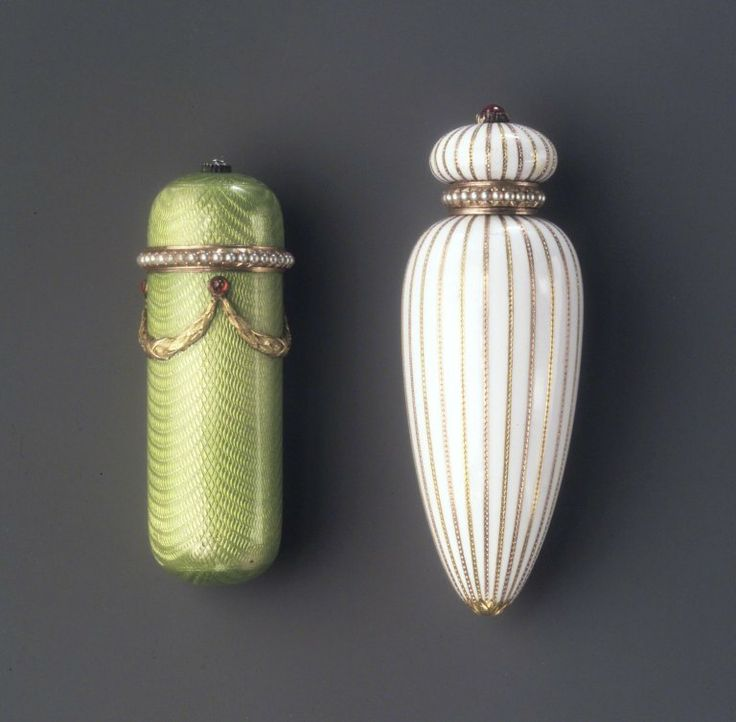 Antique Faberge workshop perfume bottles @Karen Cohrs   I hope to see something like this!