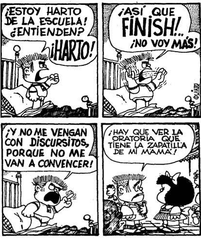 Finish! - Manolito - Mafalda