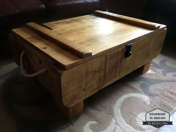 Rustic 3ft Storage Chest Coffee Table. Rough Sawn Plank Pine. Handmade in the UK by RusticOwlUK on Etsy https://www.etsy.com/listing/258123700/rustic-3ft-storage-chest-coffee-table