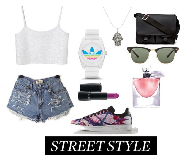 """""""Sexy tiny smith"""" by cozyncomfy on Polyvore featuring Monki, adidas, Givenchy, Ray-Ban, Alex and Ani, Lancôme and MAC Cosmetics"""