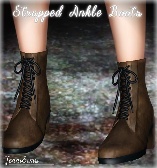 Strapped Ankle Boots by Jennisims - Sims 3 Downloads CC Caboodle