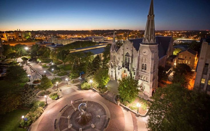 Creighton University in Nebraska-Nebraska's Jesuit university takes the honor here primarily because of the architecture. St. John's Parish and the new Harper Center represent old and new beauty on Creighton's Omaha campus.