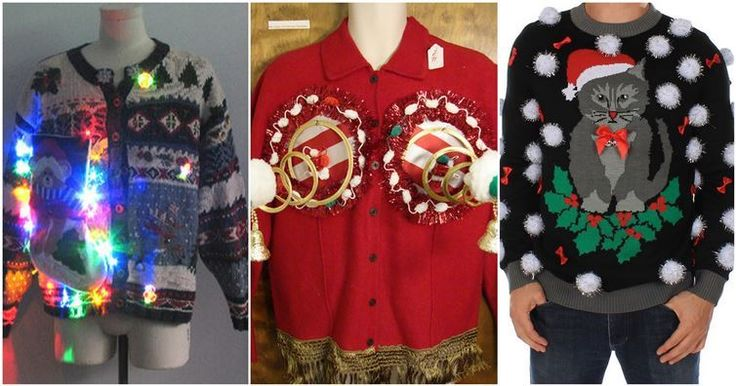 Are these the ugliest Christmas sweaters?