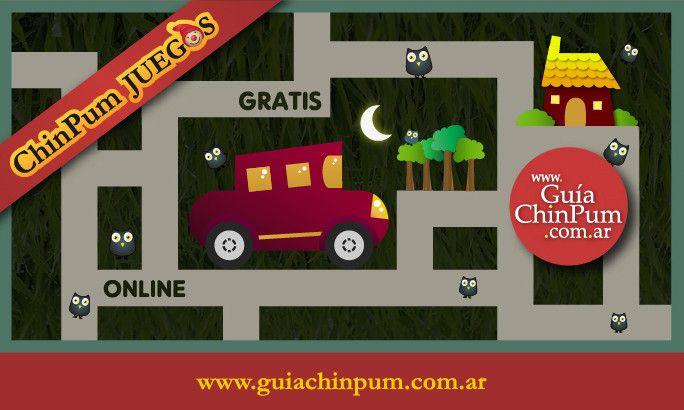 Juegos de laberintos online para niños pequeños: Lleva el auto hasta la casa!