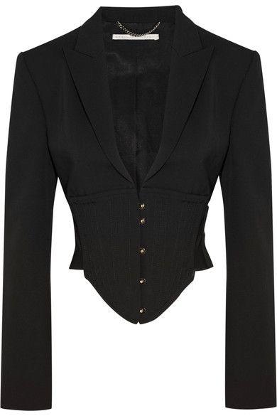 Stella McCartney - Cropped Cutout Wool Jacket - Black - IT38