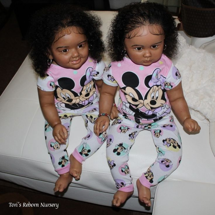 Ethnic Cammi And Julieta Twin Toddlers Black Toddler