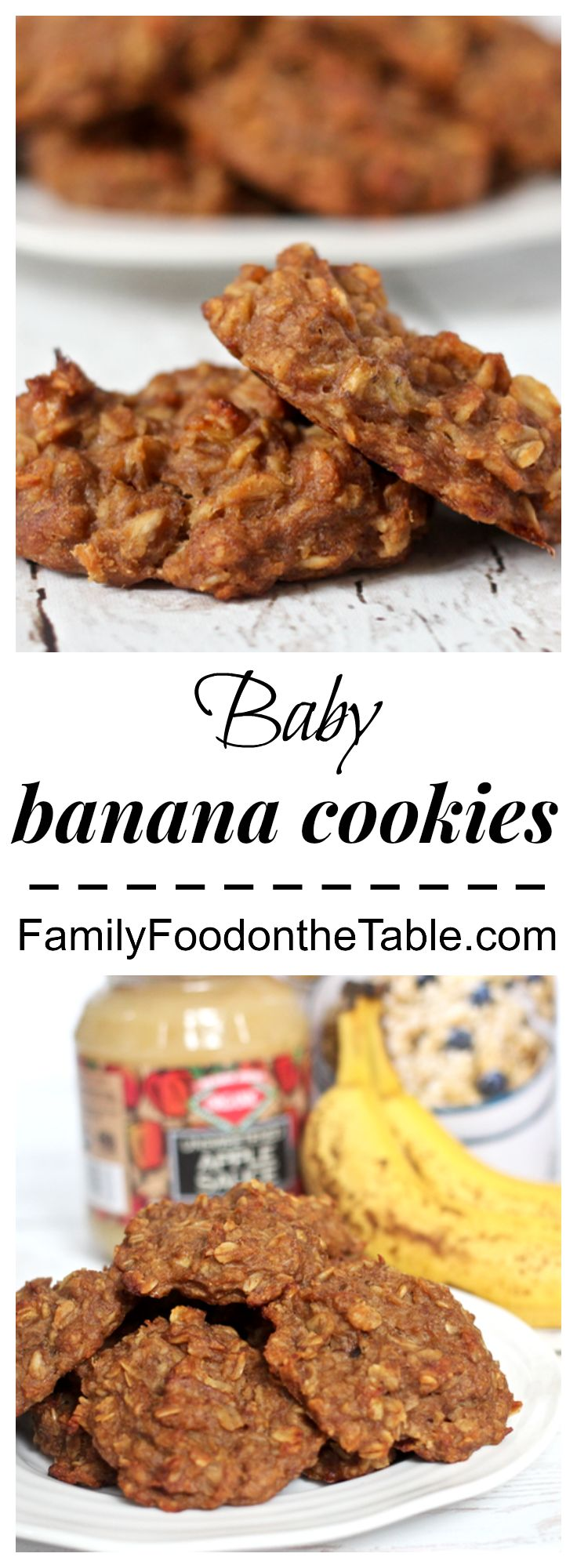 Baby banana cookies - 5 wholesome ingredients, no sweeteners | Family Food on the Table