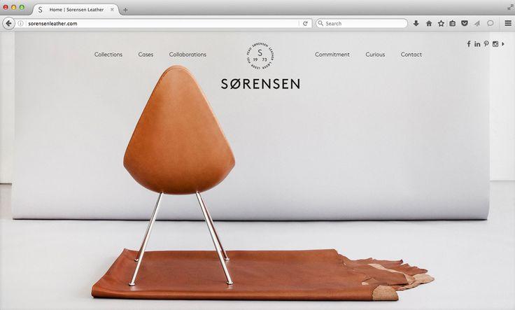 The Drop™ Chair / Fritz Hansen. Sorensen Leather: Elegance / Walnut. Photo: Jonas Bjerre-Poulsen. #NORMarchitects #studioc #fritzhansen