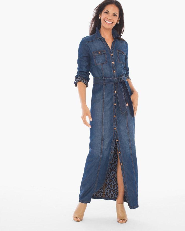 Best 20  Denim maxi dress ideas on Pinterest | Chambray dress ...
