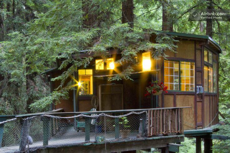 Treehouse Rental in Santa Cruz Mountains.   Vaca Del Sol, Watsonville, CA 95076, United States