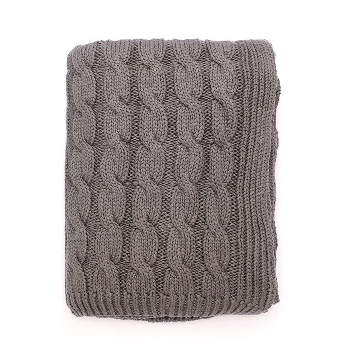 The Grey Large Cable Knit Throw Cable, Warm bedroom and Grey