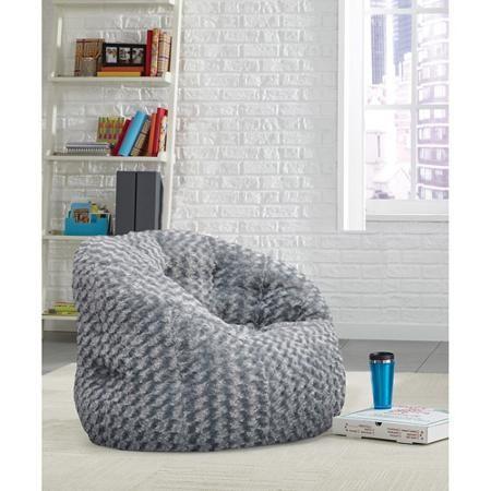 Cocoon Rosette Faux Fur Bean Bag Chair