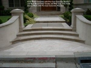 Sand Wash Concrete With Pre Cast Concrete Border
