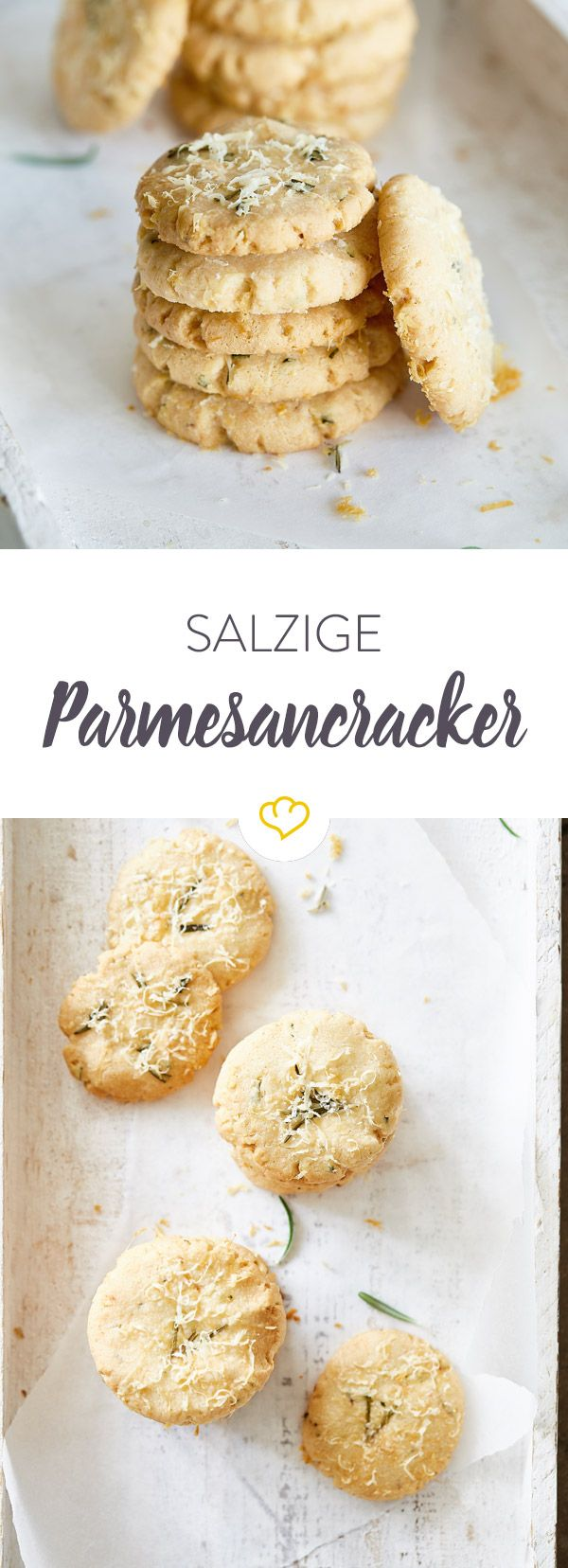 Salzige Parmesankekse mit Rosmarin