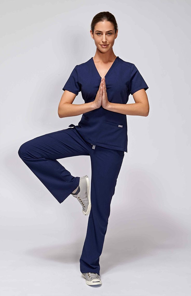women's casma three-pocket scrub top - navy – 100% Awesome Medical Apparel
