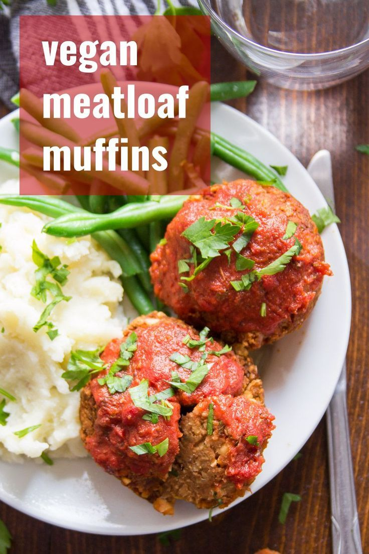 Italian Style Meatloaf Muffins Made Fromchickpeas These