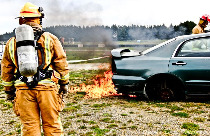 Out on a training day with the Invercargill Volunteer Fire Brigade - a day at Teratonga Park Raceway. August 2013.