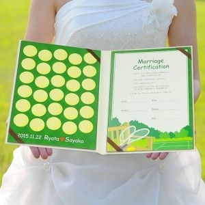 結婚証明書(ゲスト参加型)「テニス」 http://www.farbeco.jp/shopdetail/000000009904/