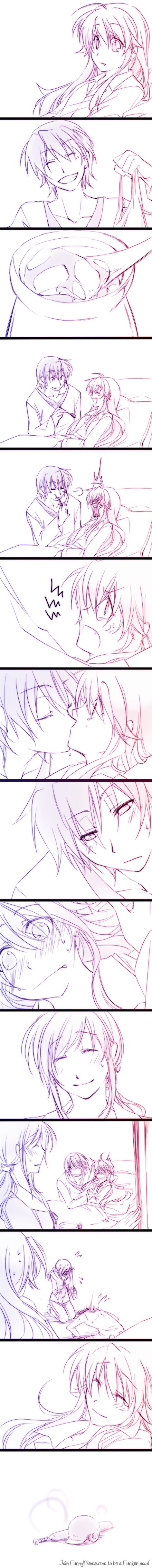 Yui x Hinata, Angel Beats- only if this happened... Lemme go fandom now...