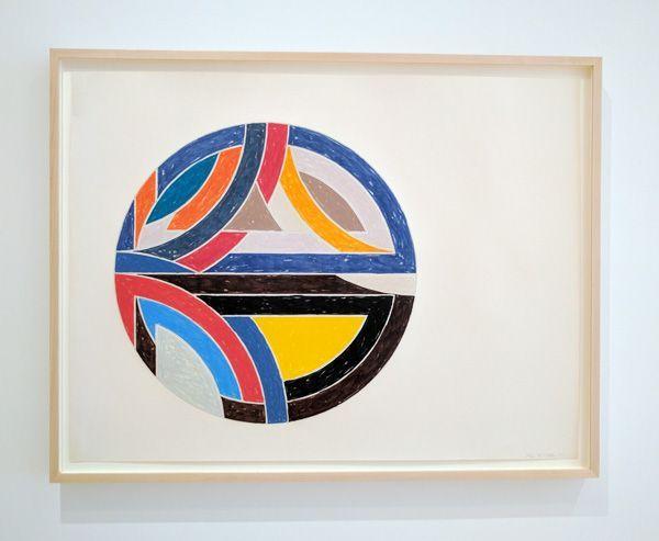 Frank Stella ink drawing at San Francisco Museum of Modern Art MoMA