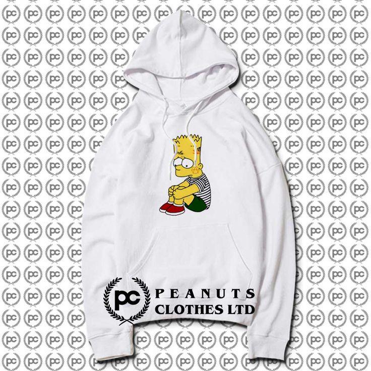 Get Cry Lil Peep Bart Simpson Hoodie Custom Design in 2020