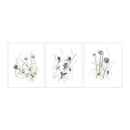 TRILLING Poster, set of 3 - IKEA