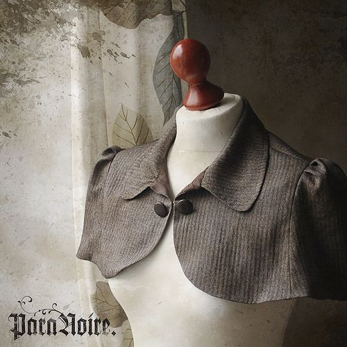 I'm so going to repurpose a suit jacket into a capelet.