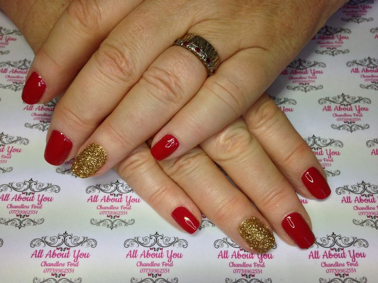 #Gel #manicure with #sugared #accent #nail