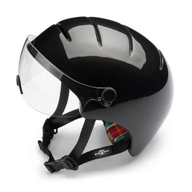 Bicycle Helmet with Visor Black