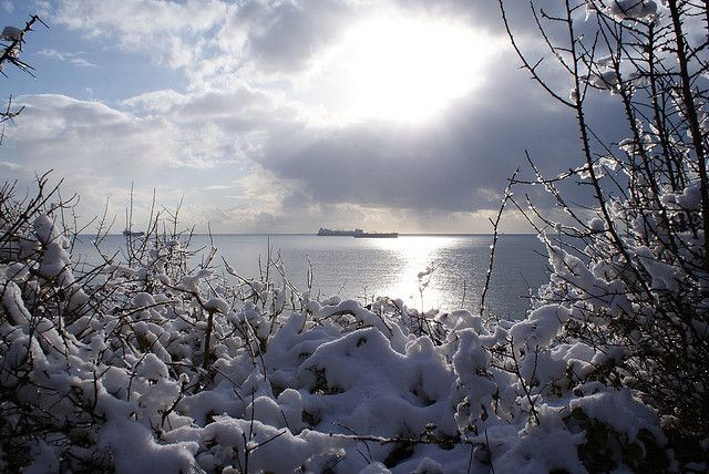 Snow in Falmouth, Cornwall 2009 - Chris Symonds