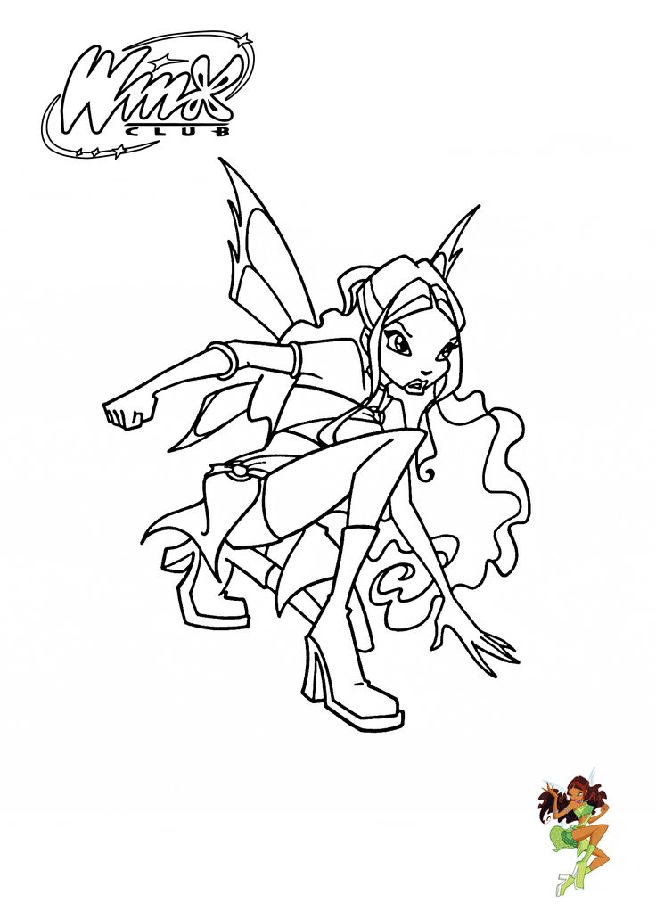 23 Best Winx Club Coloring Pages Images On Pinterest