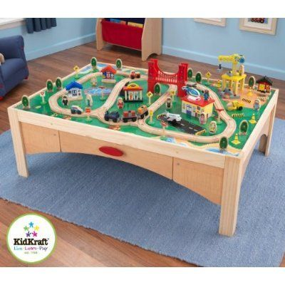 KidKraft Natural Train Table And 120 Piece Train « Game Searches