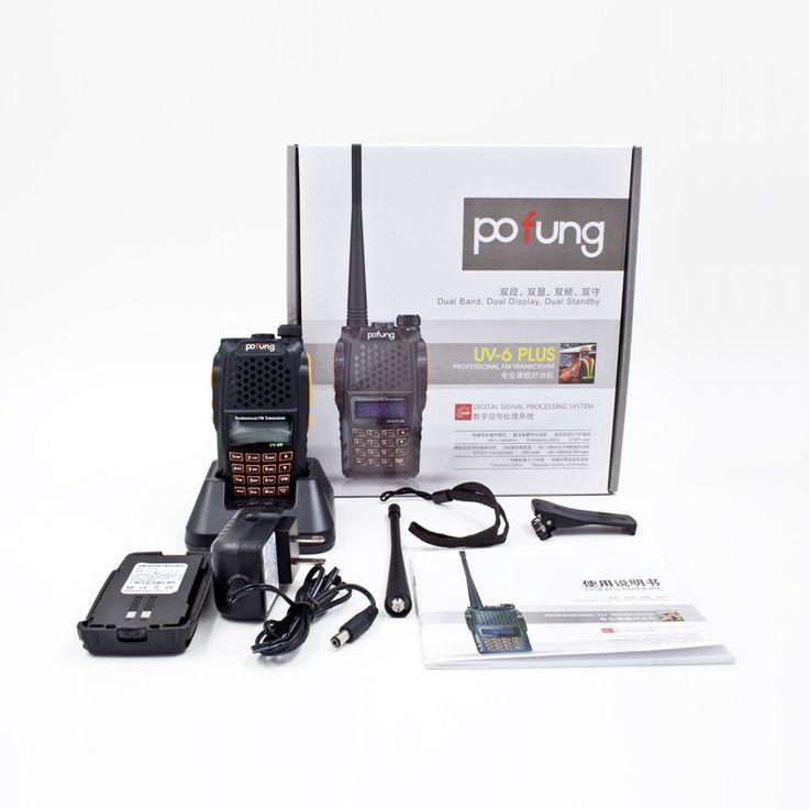 BaoFeng УФ-6 УФ-6R Плюс Любительское Handheld Двухстороннее Радио Walkie Talkie Pofung UV6R 5 Вт 128CH UHF/VHF Dual группа Обрабатываются Трансивер