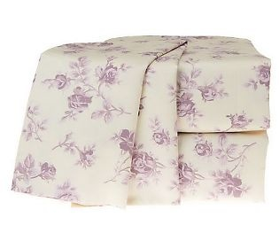 Northern Nights Renay 400TC 100% Cotton Floral Print Sheet Set - Lavender