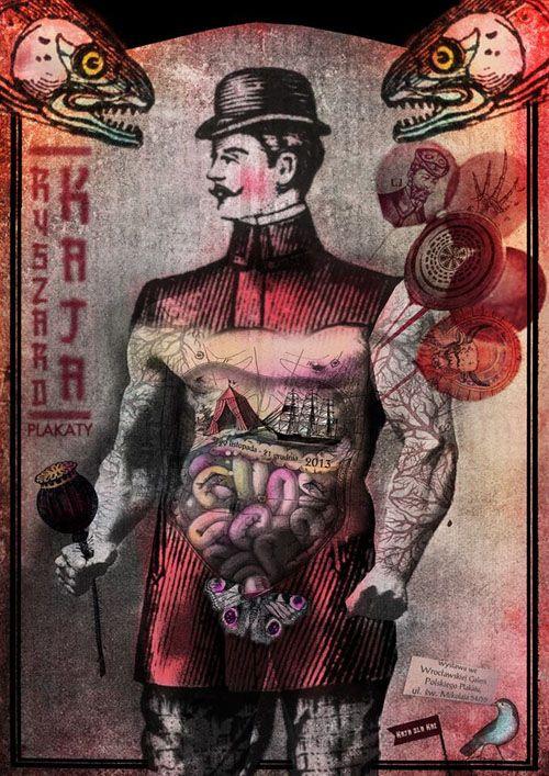 Ryszard Kaja Exhibition, Polish Poster