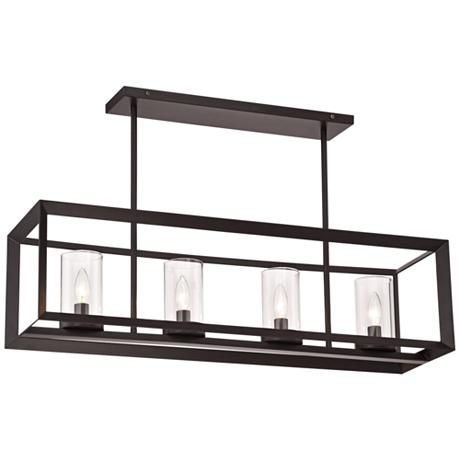 "Cove Point 34 1/2"" Wide Open Frame Rectangular Chandelier (lamps plus)"