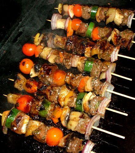 Summer Kangaroo Kebabs in Green Paw Paw Marinade