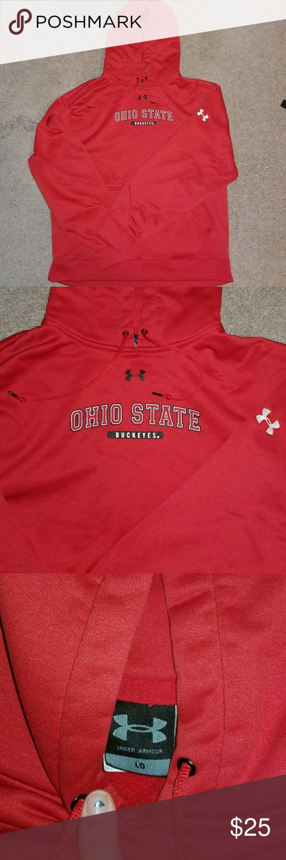 Under Armour Ohio State hoodie Perfect condition pull over hoodie size men's large. Under Armour Jackets & Coats