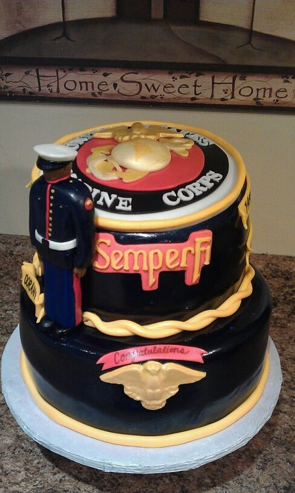 Marine Groom's Cake! Semper Fi <3 OMGGGGG I WANTTTT