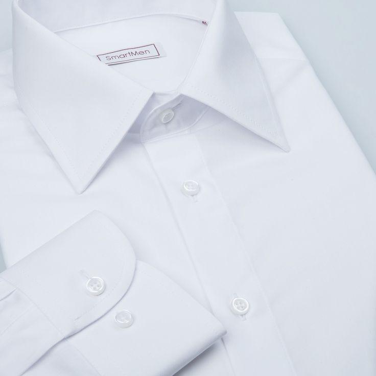 Čisto biela pánska košeľa dlhý rukáv Non Iron : Pánske košele a kravaty SmartMen. Casual košele Slim. Luxusná košeľa na manžetové gombíky. Hodvábne kravaty. Manžetové gombíky so Swarovski kryštálmi. Eshop pánske košele a doplnky. Košele pre firmy.