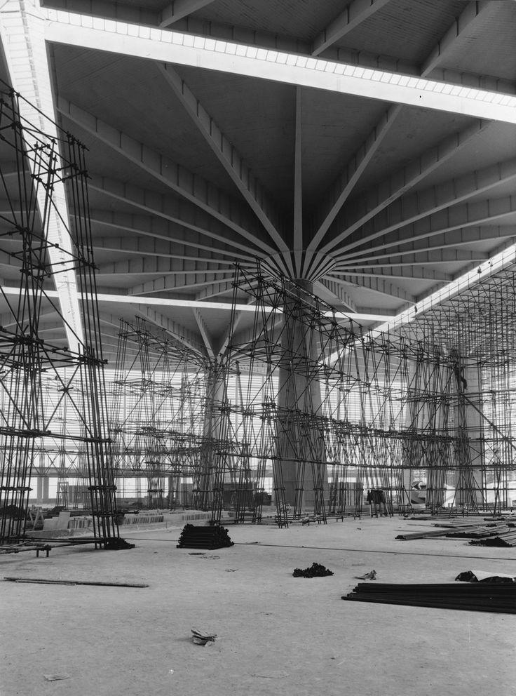 Palazzo del Lavoro, Turin under construction (1960s) | Pier Luigi Nervi | Architectural Press Archive/RIBA Collections