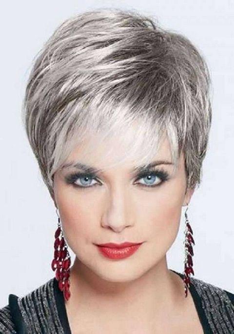 Fryzury Na Krótkie Siwe Włosy Moja Fryzurka Włosy ładne