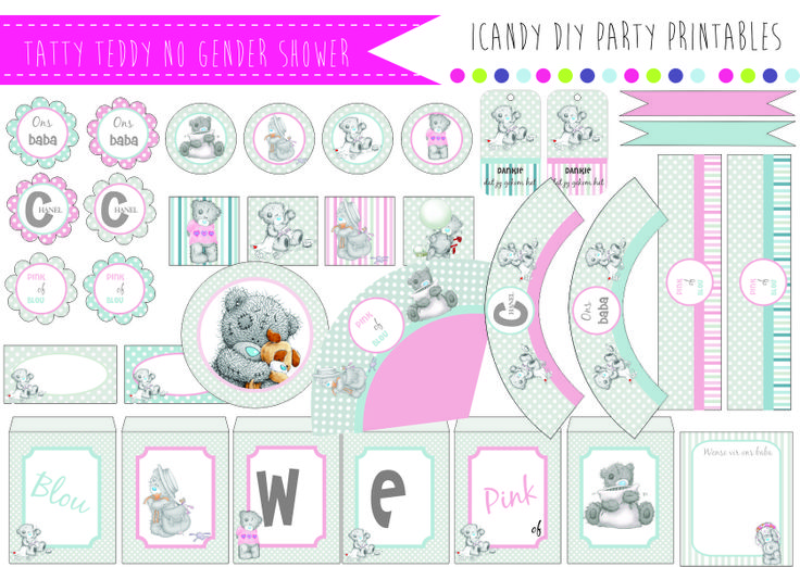 TATTY TEDDY NO GENDER BABYSHOWER https://www.facebook.com/icandydiypartyprintables