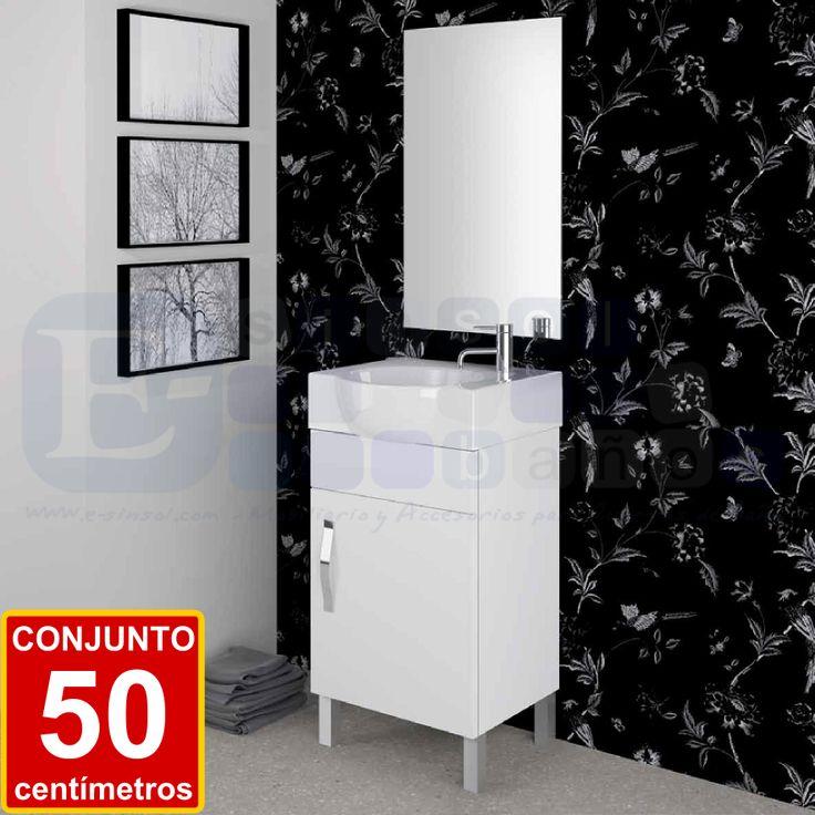 MUEBLE DE BAÑO FONDO REDUCIDO. 249 €.      Bonito y compacto conjunto de baño de alta calidad y personalizable en 17 acabados y/o combinados.